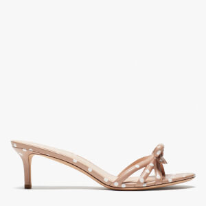 Kate Spade Women's Swing Leather Kitten Heels - Light Fawn/Parchment