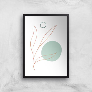 Leaf And Dot Giclee Art Print