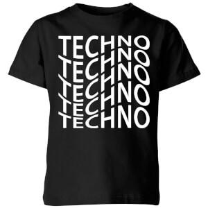 Techno Kids' T-Shirt - Black
