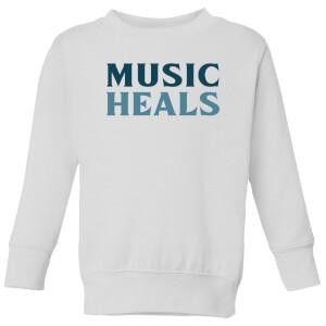 Music Heals Kids' Sweatshirt - White