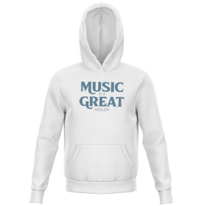 Music Is A Great Healer Kids' Hoodie - White