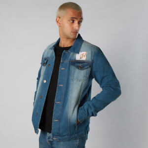 MTV Flashback Unisex Denim Jacket - Blue