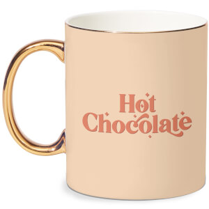Hot Chocolate  Bone China Gold Handle Mug