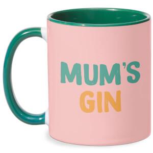 Mum's Gin Mug - White/Green