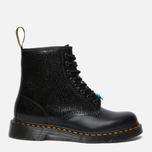 Dr. Martens X Keith Haring 1460 Smooth Leather Boots - Black