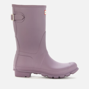 Hunter Women's Original Short Back Adjustable Wellies - Purple Top