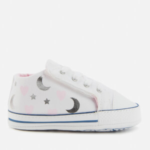 Converse Babies' Chuck Taylor All Star Cribster Soft Trainers - White/Pink/Silver