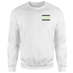 Agender Flag Sweatshirt - White