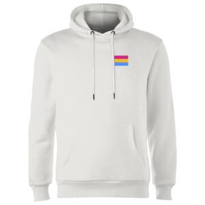 Pansexual Flag Hoodie - White