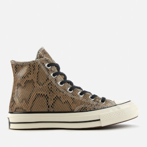 Converse Chuck 70 Archive Reptile Hi-Top Trainers - Brown