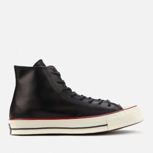Converse Men's Chuck 70 Premium Leather Hi-Top Trainers - Black