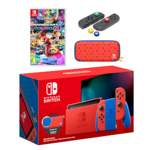 Nintendo Switch Mario Red & Blue Edition + Mario Kart 8 Deluxe Pack