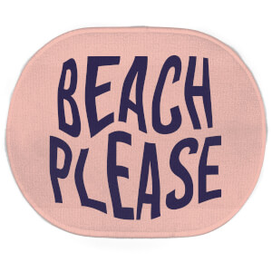 Earth Friendly Beach Please Oval Bath Mat