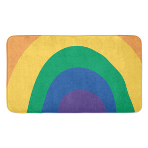 Earth Friendly Close Up Rainbow Large Bath Mat