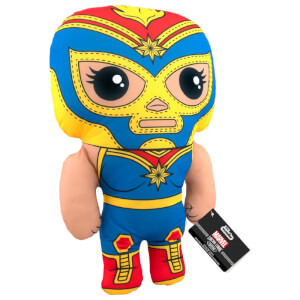 "Marvel Lucha Libre Captain Marvel 17.5"" Funko Plush"