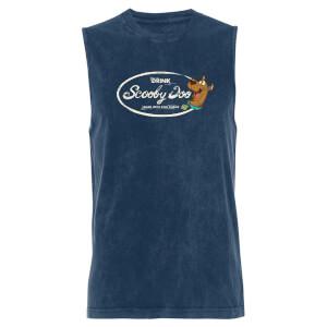 Scooby Doo Drink - Navy Acid Wash Men's Vest