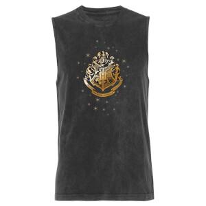 Harry Potter Golden Hogwarts - Black Acid Wash Men's Vest