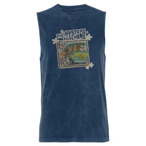 Scooby Doo Mystery Machine - Navy Acid Wash Men's Vest