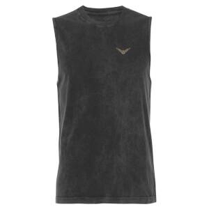 Harry Potter Golden Snitch - Black Acid Wash Men's Vest