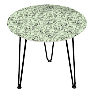 Decorsome Monopoly Money 20 Wooden Side Table