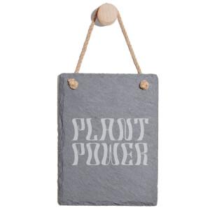 Plant Power Engraved Slate Memo Board - Portrait