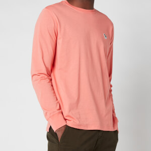 PS Paul Smith Men's Regular Fit Zebra Logo Long Sleeve T-Shirt - Pink