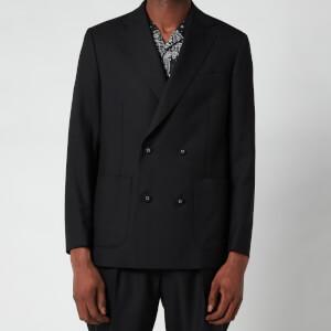 Officine Generale Men's Leon Double Breasted Jacket - Black