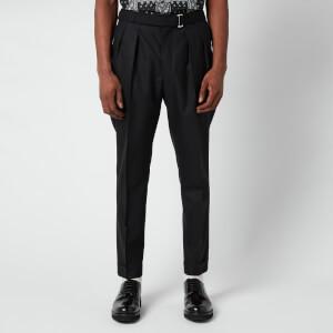 Officine Generale Men's Pierre Pleated Trousers - Black
