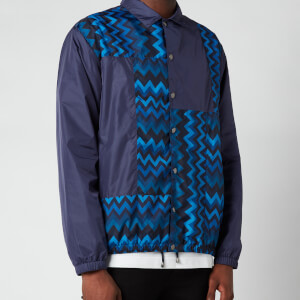 Missoni Men's Patchwork Anorak Jacket - Purple/Blue