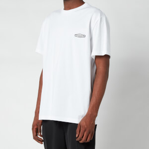 Wooyoungmi Men's Basic Back Logo T-Shirt - White/Black