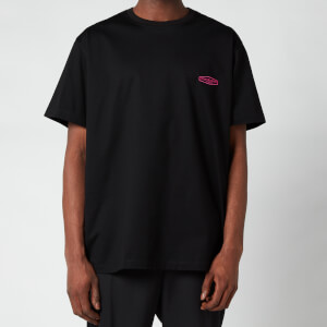 Wooyoungmi Men's Basic Back Logo T-Shirt - Black/Pink