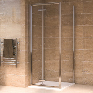Aqualux Bi-Fold Door Shower Enclosure and Tray Package - 900 x 900mm