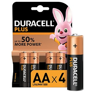 Duracell Plus AA Batteries - 4 Pack