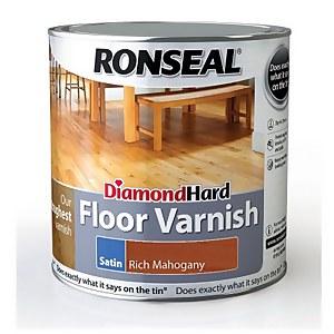 Ronseal Diamond Hard Floor Varnish Rich Mahogany - 2.5L