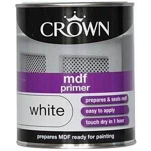 Crown MDF Primer - Pure Brilliant White - 750ml