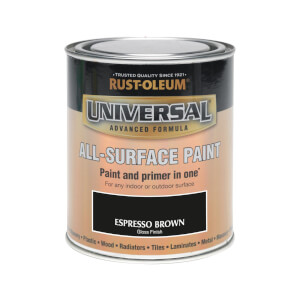 Rust-Oleum Universal All Surface Gloss Paint & Primer - Espresso - 750ml