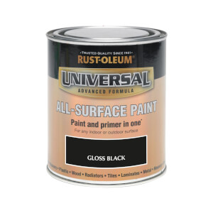 Rust-Oleum Universal All Surface Gloss Paint & Primer - Black - 750ml