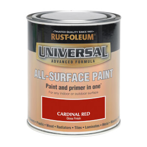 Rust-Oleum Universal All Surface Gloss Paint & Primer - Cardinal Red - 250ml
