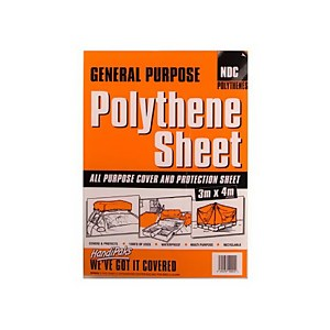 General Purpose Polythene Sheet - 3 x 4m