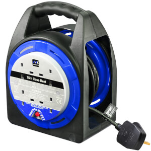 Masterplug 4 Socket Cable Reel 15m Blue
