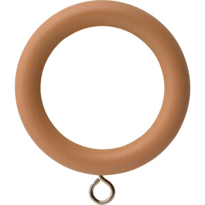 Natural Wood 28mm Curtain Rings 6 pack
