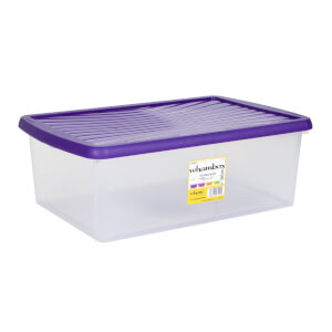 Wham 37L Storage Box with Violet Lid