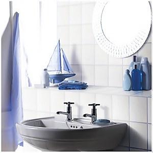 Plain Flat Wall Tiles - White - 200 x 250mm - 20 pack