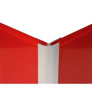 Zenolite Aluminium External Corner - 250cm - Matt Silver