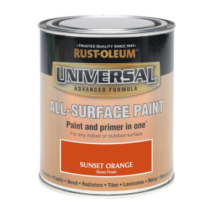 Rust-Oleum Universal All Surface Gloss Paint & Primer - Sunset Orange - 250ml