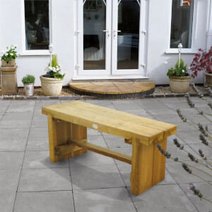 Forest Double Wooden Sleeper Bench - 1.2m