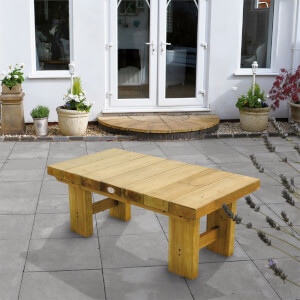 Forest Low Level Wooden Sleeper Table - Natural - 1.2m