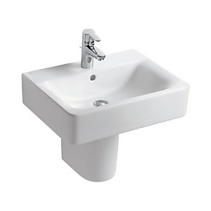 Ideal Standard Senses Cube Semi-Pedestal Basin - 55cm