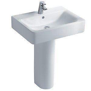 Ideal Standard Senses Cube Pedestal Basin - 55cm