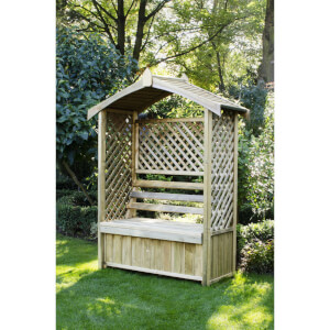 Forest Arbour with Storage Box